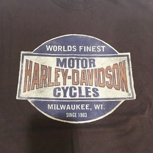 Men's XL Sturgis Harley t-shirt brown
